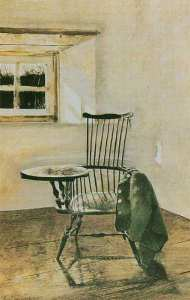 Writers chair by Andrew Wyeth